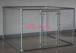 Haotian top roof welded wire dog kennel up to 10ft long factory