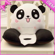 Plush cute emoji cushion, plush chair cushion, plush panda cushion