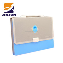 A4 button color expanding file bag 12 compartment design orange peel pattern briefcase documents bags office supplies