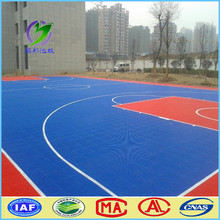 Plastic flooring / PP flooring tiles for basketball court