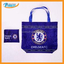 MOQ 100 pcs for custom design, Custom made sublimation promotional hemp shopping bags for soccer fans