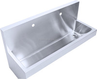 China manufacturer stainless steel hand washing trough for sale