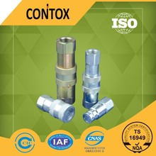 E112 China manufacture ISO16028 standard flat face type air/fluid Hydraulic quick coupling