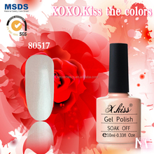 X.Kiss brand new gel polish colors Iced Coral #80517, red carpet nail lacquer