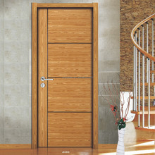 Hotel interior wooden bedroom door
