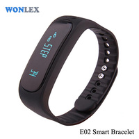 E02 Sport bluetooth bracelet smart watch healthy Silicone Wristband Time/Caller ID/alarm/Pedometer Sleep Monitor for IOS Android