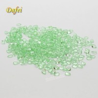 Wholesale Light Green Pear Shaped Synthetic Glass Bead