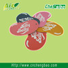 China factory make cheap hanging paper car air freshener for promotional gifts