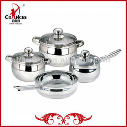 7Pcs Factory Price Stainless Steel Household Non Stick Pots And Pans
