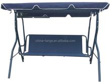 LG-BA-803 Yongkang LanGe steel and fabric leisure outdoor cheap garden canopy hammock with sunshade 3seat swing chair