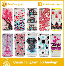 """2015 new arrival soft TPU painted relief flower tower anchor pattern back case cover for iphone 6 4.7"""" cell phone case"""