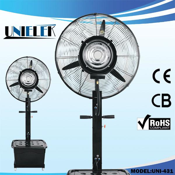 Industrial Water Cooling Fans : Unielek industrial mist fan air cooling volt spray