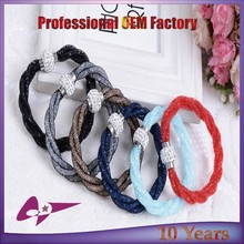 Hot Sale Mesh Single Stardust Bracelets With Rhinestone Crystal Stones Filled Magnetic Clasp Stardust Charm Bracelets Bangles