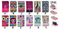 Cute Owl Bow Tower Ethnic Leather Stand Flip Wallet Case For iPhone 4 4g 4S