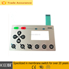 3 M self adhesive embossing membrane keyboard with silk printing
