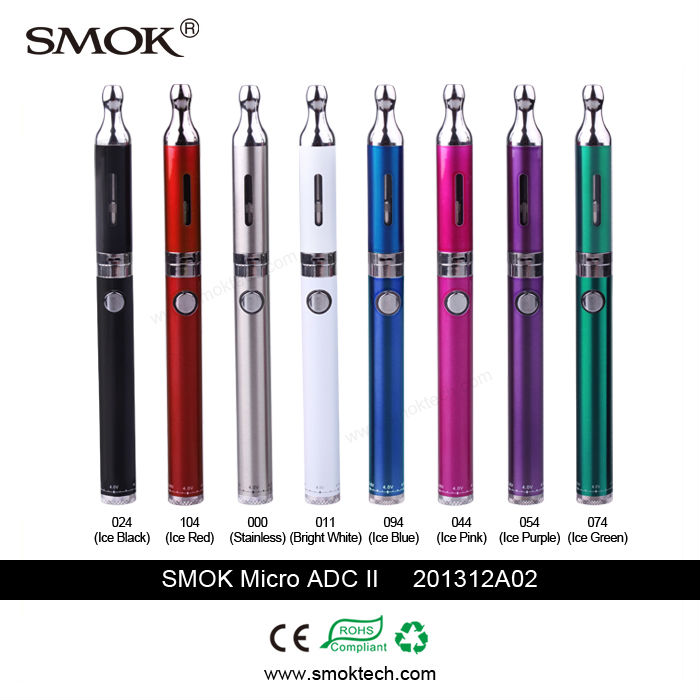 Dual coil 1.5/2.0/2.5ohm pyrex glass bottom coil clearomizer Smok Micro ADC Smoktech Micro ADCII airflow controllable