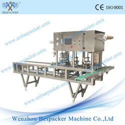 Automatic beverage cup sealer and filler machine