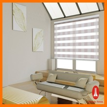 Curtain times Blackout And Sheer Polyester Fabric Zebra Roller Blind For Outdoor Home Office Window