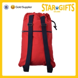 China Suppliers Wholesale Cheap Soft Canvas Gym Sack Drawstring Bag For Girls