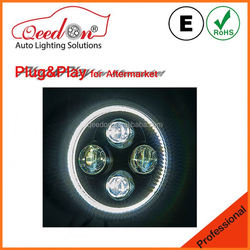 Qeedon lastest design emark dot 7 inch for jeep jk led headlights