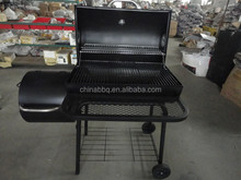 Trolley Drum Barrel Charcoal barbecue smoker