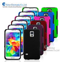 New innovative product Made in China Mesh Combo Case for Samsung Galaxy S5 i9600