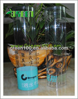 Popular small clear plastic Tube packaging, Thin plastic packaging tubes