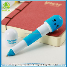 Cute promotional capsule vitamin ball pen