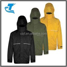 2015 New Design Waterproof Rip Stop Men's Rain Jacket