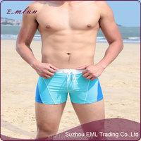 Men good quality fashion quick dry sexy tight nylon beach shorts