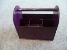 Purple Metal Utensil Caddy Elegant NEW DESIGN Metal Organizer Box/Rectangle Metal Ice Bucket/Sundries Metal Collector Case