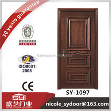walnut veneer wooden door modern house design