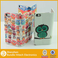 Multiple Owls Stand Wallet Leather Case For iPhone 5 5S