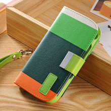 2014 New Style Colorful custom wallet flip for Samsung galaxy S3 phone cases