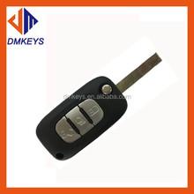 Good quality 3 buttons key shell 2 track,car key blank/car remote key covers no logo with batt/transponder car key blank