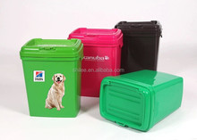 Plastic dog food pet food container