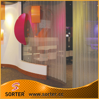 New design fashion hanging silver metal drapery room divider/partition