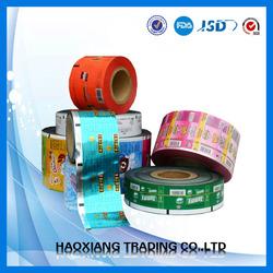 Custom printing snack packaging sachet plastic roll film