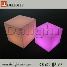Outdoor Lighting multicolored outdoor illuminated plastic rechargeable mobile led cube rgb 40x40x40 for garden