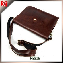 Elegant Design brown cow leather briefcase bag Men Clutch shoulder bag