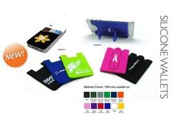 3M sticker silicone smart wallet,smart phone wallet,silicone wallet with car holder