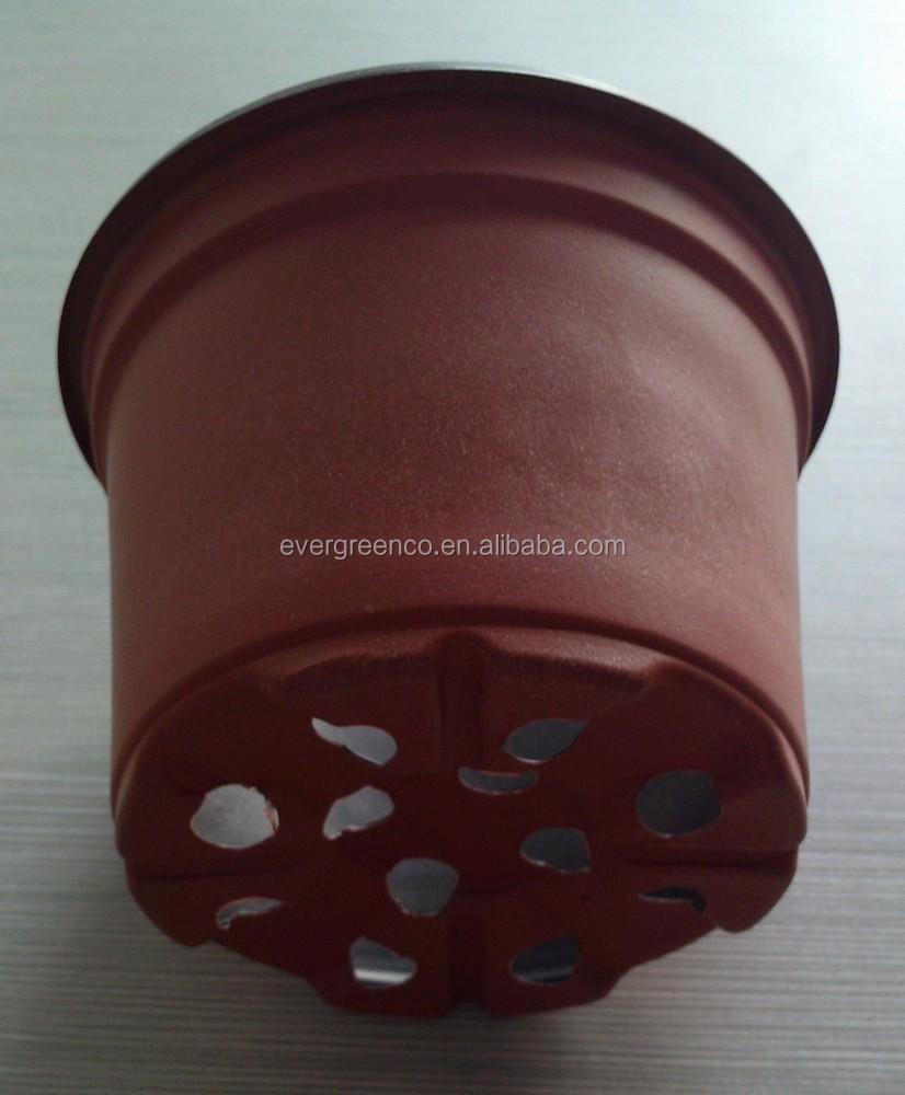 en plastique contenant des plantes pas cher fleur pot noir en plastique pot de p 233 pini 232 re pots