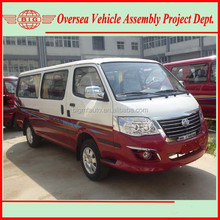 2015 new hiace diesel passenger van flat roof white-red color (skd/ckd available for local assembling)