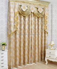 2015 New Design Silk jacquard curtain fabric embroidered pattern window curtain