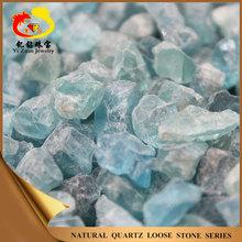 High quality natural varied shaped loose gemstones rough blue topaz