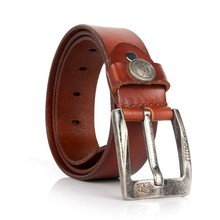 Factory Cheap Wholesale Leather Men Belt with Pin Buckle