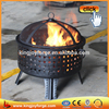 "26"" Open Weave Cutout Garden Fire Pit With Spark Screen"