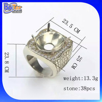 Custom Wholesale 925 Sterling Silver Mens Ring Blanks For Stone,Men Finger Ring Blanks Without Stones