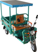 Solar energy electric tricycle with roof