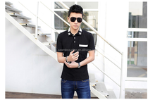 Men casual 100% cotton plain Solid men polo t shirt